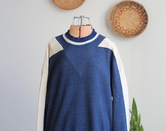 Vintage 80s Textured Crewneck Sweater