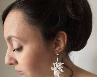 earrings for romantic bride