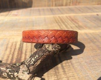 Braid Stamped Stacker Cuff Bracelet