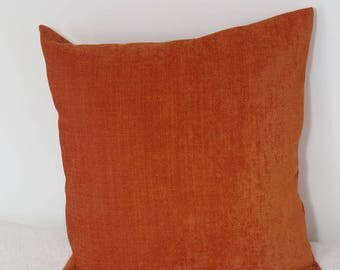 Orange 40 * 40 velvet fabric cushion covers