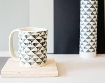Screen-printed Geometric Patterned Mug