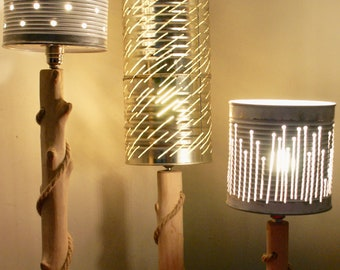 Bespoke lighting using found and recycled items