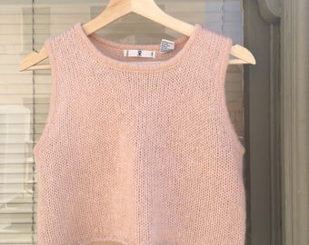 Rampage baby pink mohair tank