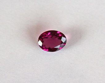 Loose Rhodolite Garnet gemstone 2.16ct Oval cut loose Garnet stone Purple Garnet June Birthstone
