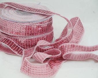 Ribbon stripe glitter pink 20 mm