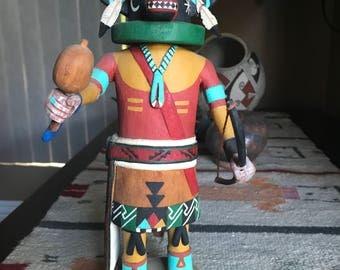 Hopi Carved Kachina - Badger (Honan) Kachina or a Hunter - Signed