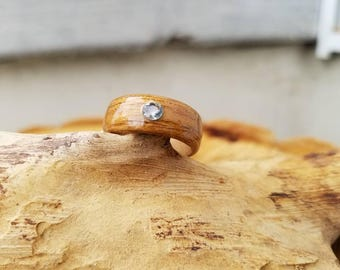 Elk Antler With Uss Nc Teak Wood With Double Rose Gold Inlay