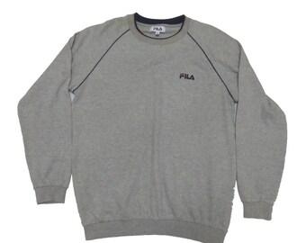Vintage Long Sleeve FILA Sweatshirt Medium Size Good Condition