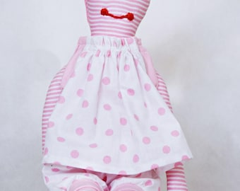 Handmade doll Soft doll Fabric doll PINK for girl child baby