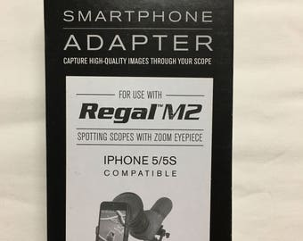 Used Celestron 81041 Regal Scope to iPhone 5/5S Smartphone Adapter (Black)