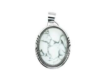 Navajo Howlite Silver Pendant