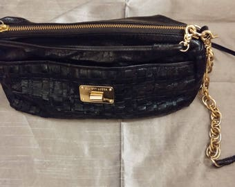 Elliott Lucca Leather Basketweave Purse/Handbag