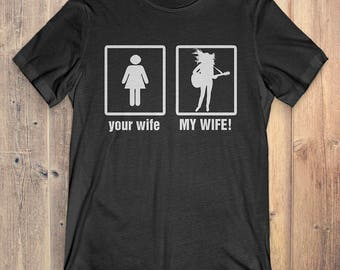 Guitar T-Shirt Gift: Your Wife My Wife