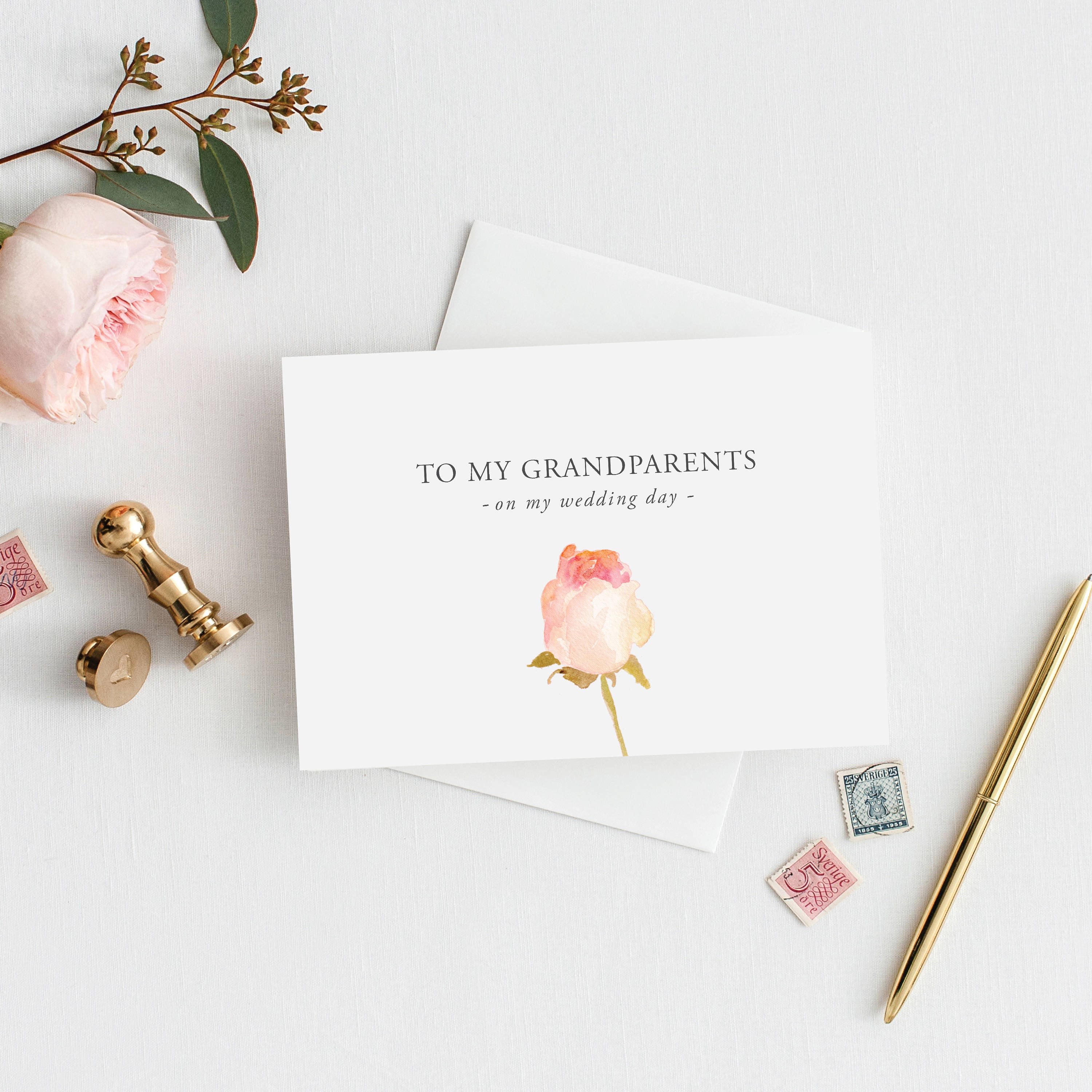 Printable 5x7 To My Grandparents Card To My Grandparents Wedding