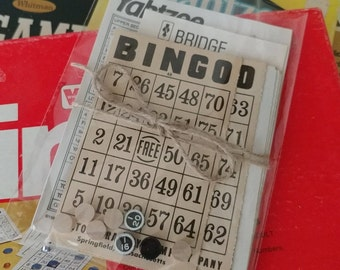 Vintage Ephemera Game Score Sheets BINGO Yahtzee Bridge Junk Journal Collage Mixed Media Paper Crafts Art