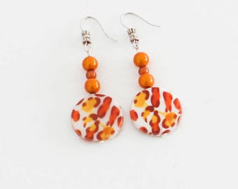 "Earrings ""Les Fauves"" pattern"