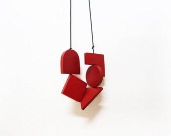 LOVED Necklace - Dark Red S005