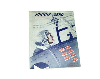 1943 WWII Johnny Zero Music Sheet.