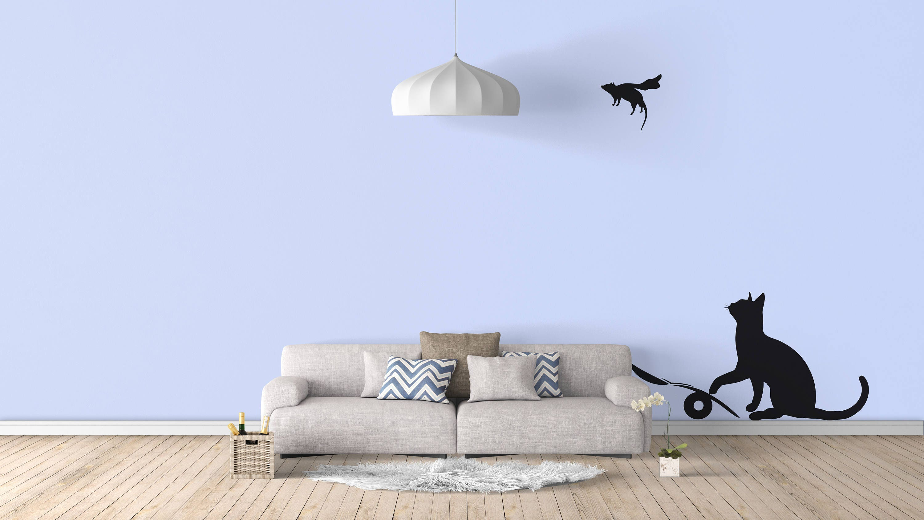 Banksy cat and mouse wall decal sticker banksy style urban art 1 amipublicfo Gallery