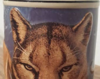 Budweiser Stein - Endangered Species Series - Cougar - Collector Edition 1990 D430