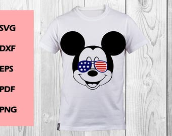 Mickey with glasses SVG, DXF, PNG cutting file, Printable, T-shirt Design, Scrapbooking Clipart, disney svg