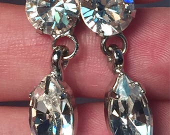 Crystal Countess Tear Drop Earrings