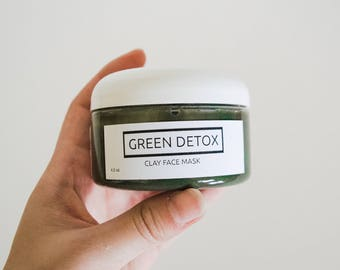 Green Detox Clay Mask - Face Mask for Deep Clean and Acne Treatment