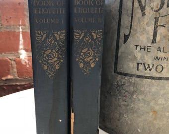 Book of Etiquette Volume I & Volume II- Lilian Eichler - 1921- Vintage books
