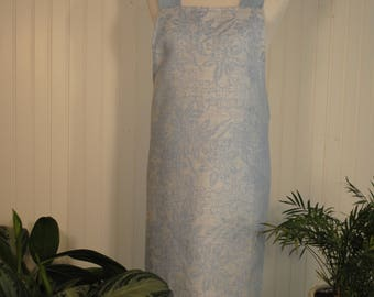 Elegant Pinafore - Powder Blue Floral