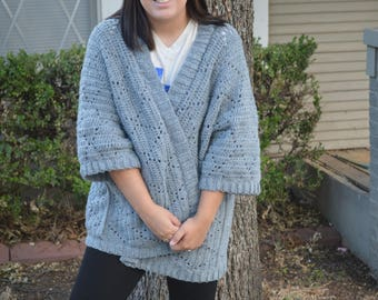 Diamond Crocheted Fall/Winter Cardigan