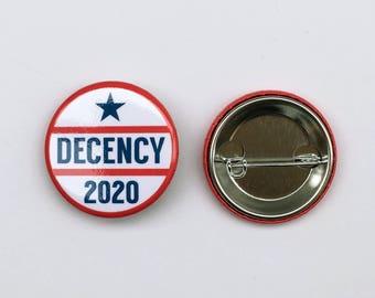 Decency 2020 Button