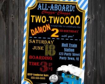 Thomas the Train 2nd Birthday Invitation - Printable