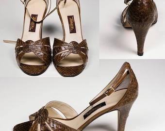 Brown Reptile Sandals