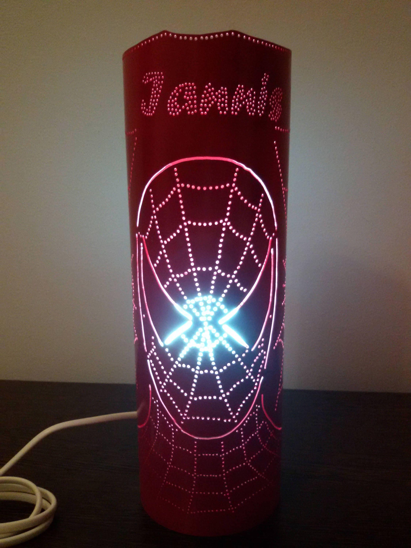 Spiderman Lamp Handmade