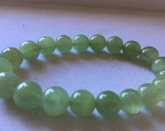Green Aquamarine 10mm Bracelet