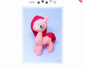 My Little Pony Pinkie Pie crochet pattern with many photos