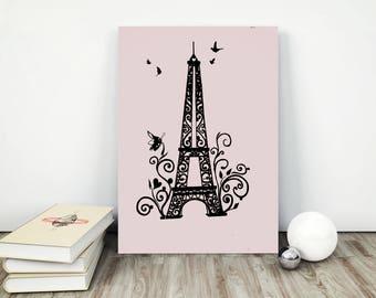 eiffel tower poster, eiffel tower print, eiffel tower design, eiffel tower decor,  eiffel tower art, eiffel tower pink, eiffel printable,
