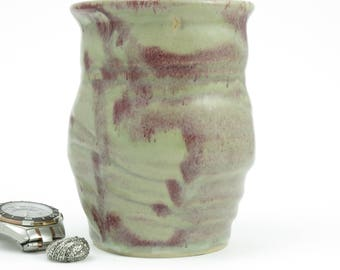 Sale - reduced by 15% from 28.95 - Vase, Ceramic Vase, Wedding Gift, Flower Vase, Handmade pottery, dog, sea horse