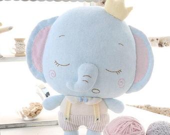 DIY Kit Good Night Elephant Fabric Doll Animal 0-3 year-old