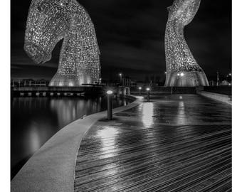 A Portrait of the Kelpies, Falkirk, Scotland