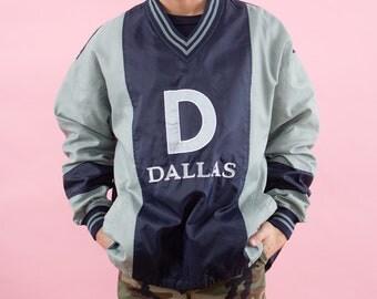 90s Vintage, Dallas Cowboys, Texas, Cowboys Football, Cowboys, Windbreaker, Game Day, NFL, Navy Blue, Spring Jacket, Sunday Football, 90s