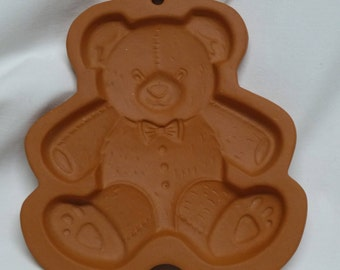 TEDDY BEAR MOLD Fox Run Craftsmen Pottery Stoneware Cookie Press