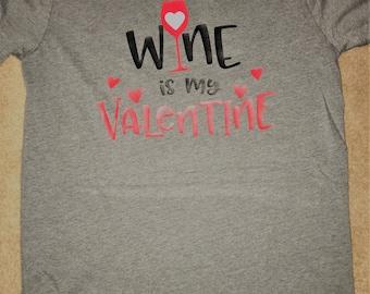 "VINYL WALENTINE ""wine is my valentine"" TEE"
