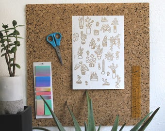 A4 print - Etching plant / my little garden