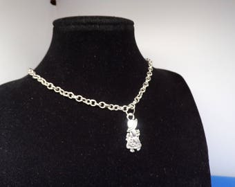 Silver necklace with girl pendant