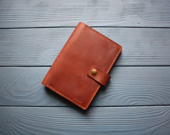 Leather A6 notebook cover Hobonichi A6 techo cover Leather hobonichi cover Leather A6 planner cover A6 agenda cover A6 leather cahier cover