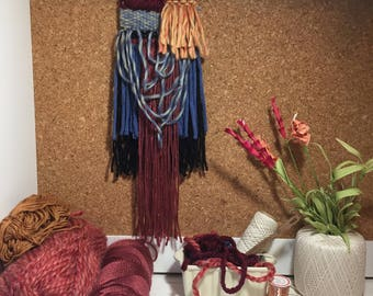 Woven Wall Hanging, Woven Tapestry