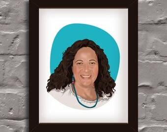 Custom portrait, portrait from photo, portrait, headshot portrait, digital portrait illustration gift for him