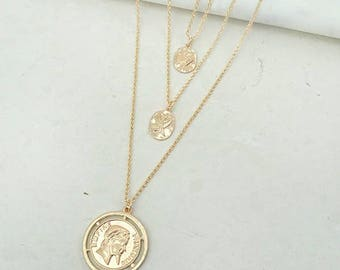 Triple Coin Necklace!