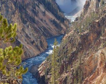 Wyoming Art, Yellowstone National Park, Lower Falls